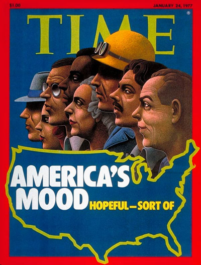 TIME Magazine Cover: America's Upbeat Mood -- Jan. 24, 1977