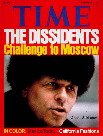 TIME Magazine Cover: Andrei Sakharov -- Feb. 21, 1977