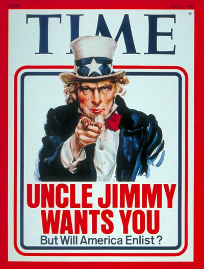 Uncle Sam points at you as in the military recruitment poster