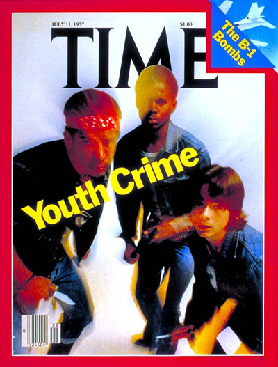 TIME Magazine Cover: Youth Crime -- July 11, 1977