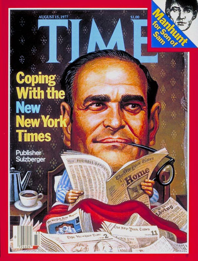 TIME Magazine Cover: Arthur Sulzberger -- Aug. 15, 1977