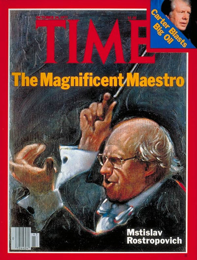 TIME Magazine Cover: Mstislav Rostropovich -- Oct. 24, 1977