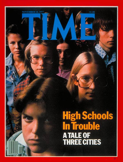 TIME Magazine Cover: High Schools -- Nov. 14, 1977