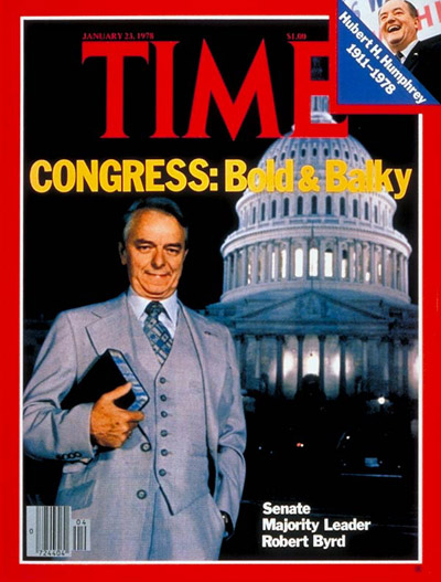 TIME Magazine Cover: Senator Robert Byrd -- Jan. 23, 1978