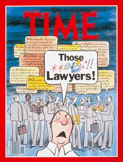 TIME Magazine Cover: Lawyers -- Apr. 10, 1978