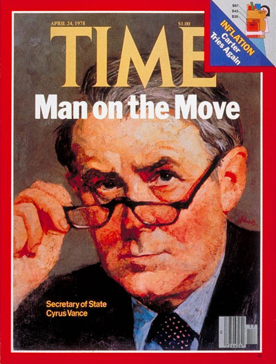 TIME Magazine Cover: Cyrus Vance -- Apr. 24, 1978