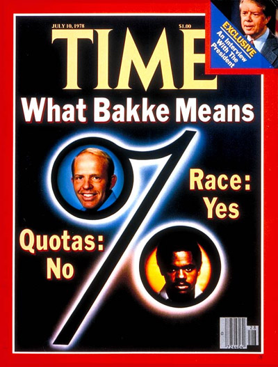 TIME Magazine Cover: Bakke Decision -- July 10, 1978