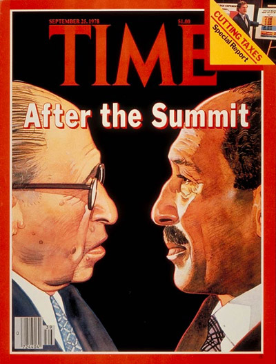 TIME Magazine Cover: Begin and Sadat -- Sep. 25, 1978