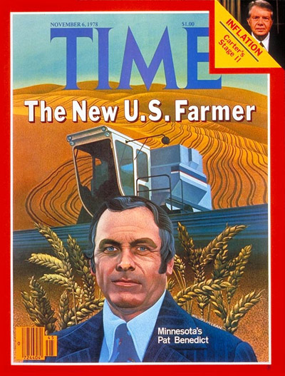TIME Magazine Cover: Farmer Pat Benedict -- Nov. 6, 1978