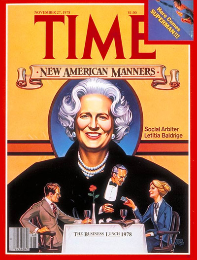 TIME Magazine Cover: Letitia Baldridge -- Nov. 27, 1978