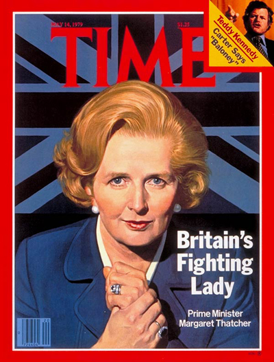 British PM Margaret Thatcher