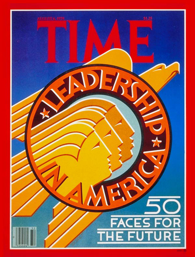 Leadership in America' featuring special section on '50 faces for the future'.