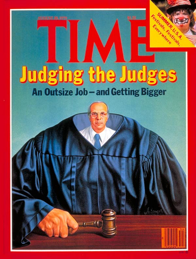 TIME Magazine Cover: Judging the Judges -- Aug. 20, 1979