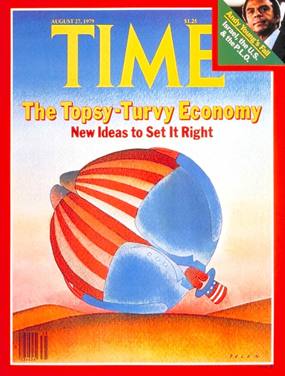 TIME Magazine Cover: Topsy-Turvy Economy -- Aug. 27, 1979