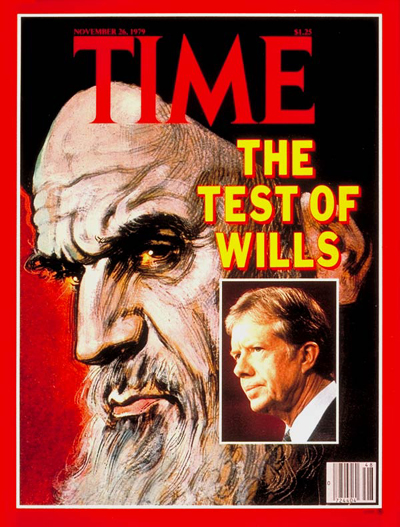 TIME Magazine Cover: Ayatullah Khomeini and Jimmy Carter -- Nov. 26, 1979