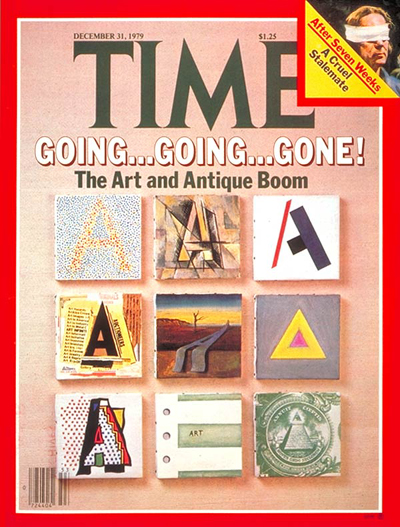 TIME Magazine Cover: Art and Antiques Boom -- Dec. 31, 1979