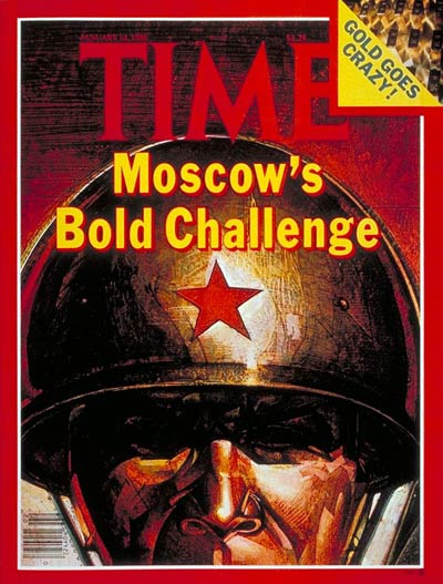 TIME Magazine Cover: Moscow's Challenge -- Jan. 14, 1980