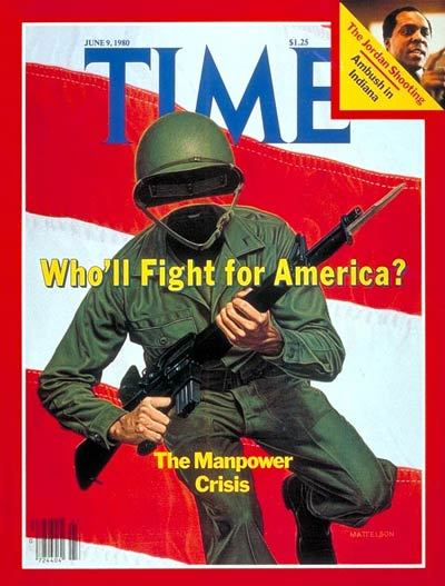 TIME Magazine Cover: Military Manpower -- June 9, 1980