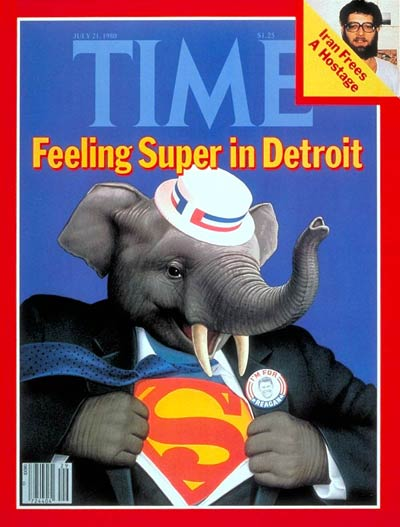 TIME Magazine Cover: G.O.P. Convention -- July 21, 1980