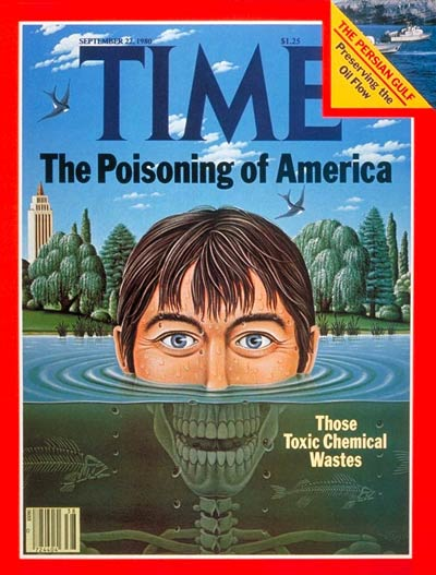 Toxic chemical wastes in lake water. 'The Poisoning of America.'