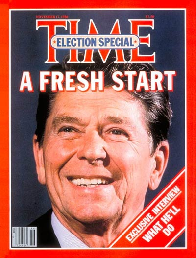TIME Magazine Cover: President-Elect Ronald Reagan -- Nov. 17, 1980