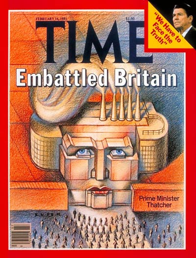 TIME Magazine Cover: Thatcher's Britain -- Feb. 16, 1981