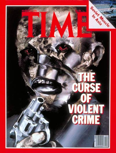 TIME Magazine Cover: Violent Crime -- Mar. 23, 1981