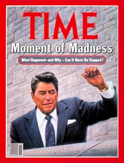 TIME Magazine Cover: Reagan Shot -- Apr. 13, 1981