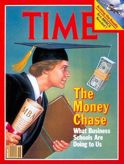 time magazine cover business schools may 4 1981