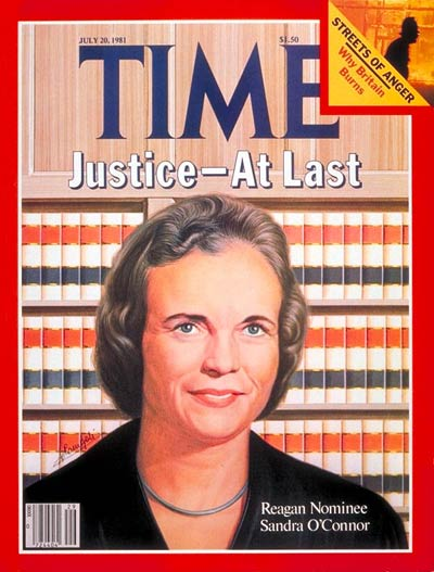 TIME Magazine Cover: Sandra Day O'Connor -- July 20, 1981
