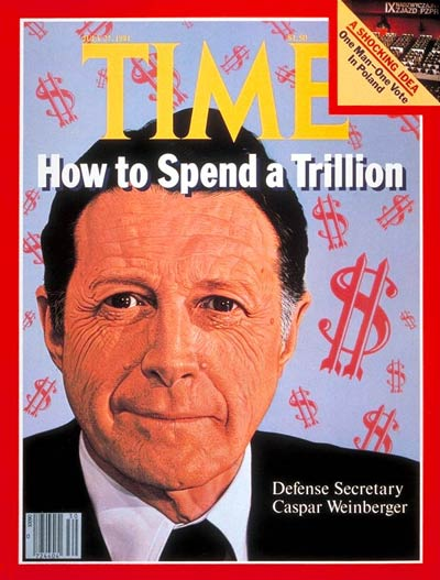 TIME Magazine Cover: Caspar Weinberger -- July 27, 1981
