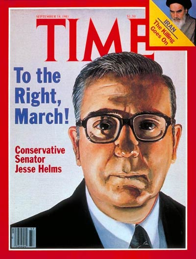 TIME Magazine Cover: Senator Jesse Helms -- Sep. 14, 1981