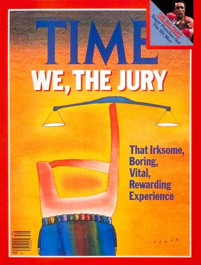 TIME Magazine Cover: Juries -- Sep. 28, 1981