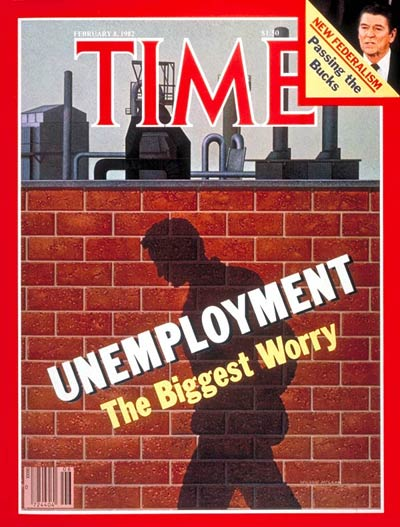 TIME Magazine Cover: Unemployment -- Feb. 8, 1982