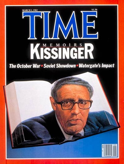 TIME Magazine Cover: Henry Kissinger -- Mar. 1, 1982