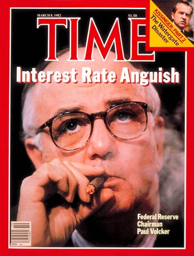 TIME Magazine Cover: Paul Volcker -- Mar. 8, 1982