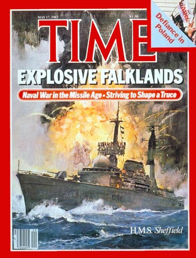 TIME Magazine Cover: H.M.S. Sheffield -- May 17, 1982
