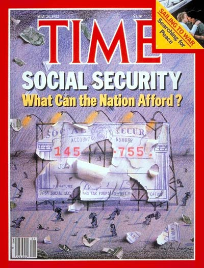 TIME Magazine Cover: Social Security -- May 24, 1982