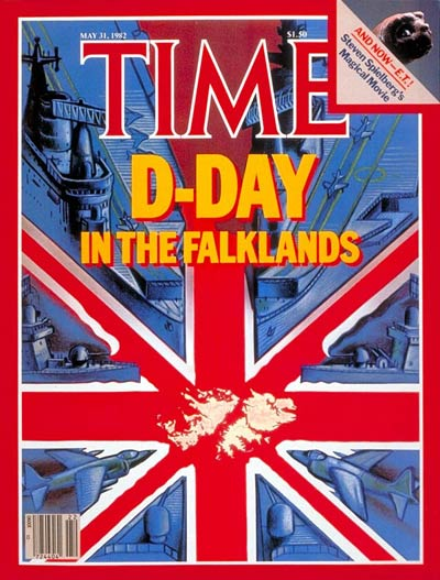 TIME Magazine Cover: Falklands D-Day -- May 31, 1982