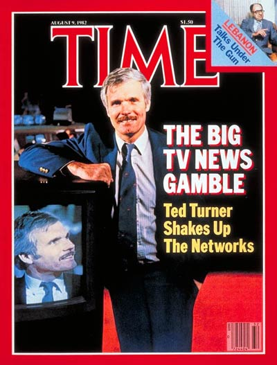 TIME Magazine Cover: Ted Turner -- Aug. 9, 1982
