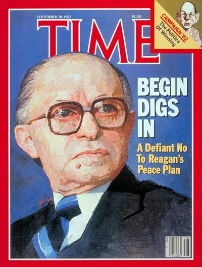 TIME Magazine Cover: Menachem Begin -- Sep. 20, 1982