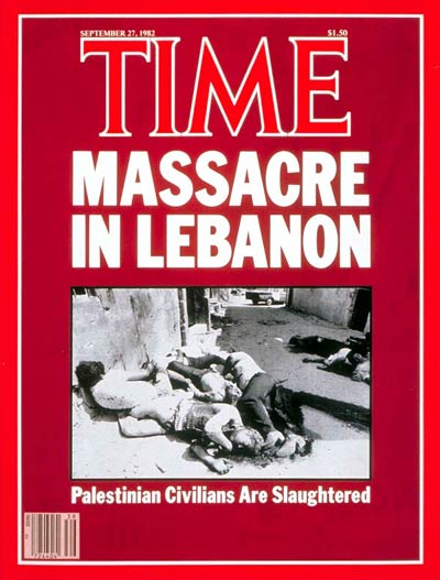TIME Magazine Cover: Lebanon Massacre -- Sep. 27, 1982