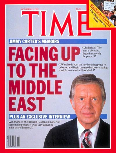 TIME Magazine Cover: Carter Memoirs -- Oct. 11, 1982