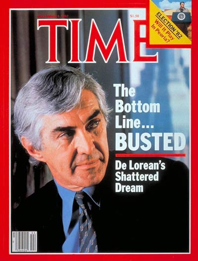 TIME Magazine Cover: John De Lorean -- Nov. 1, 1982