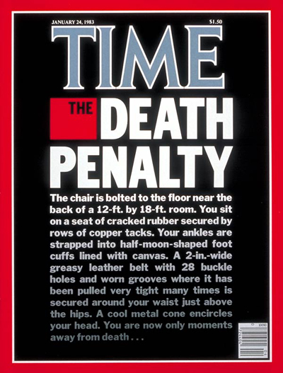 TIME Magazine Cover: The Death Penalty -- Jan. 24, 1983
