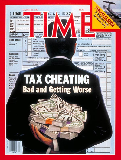 TIME Magazine Cover: Tax Fraud -- Mar. 28, 1983