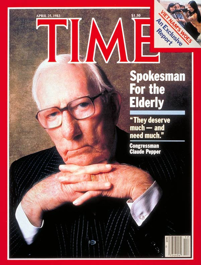 TIME Magazine Cover: Claude Pepper -- Apr. 25, 1983