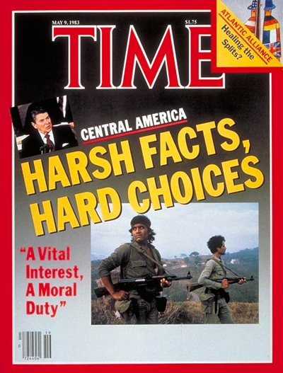 TIME Magazine Cover: Reagan and Central America -- May 9, 1983