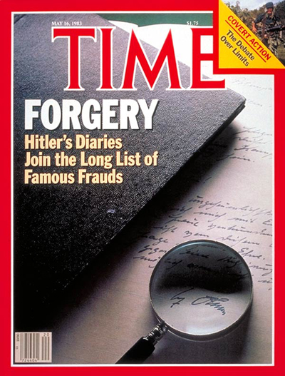 TIME Magazine Cover: Hitler's Forged Diaries -- May 16, 1983