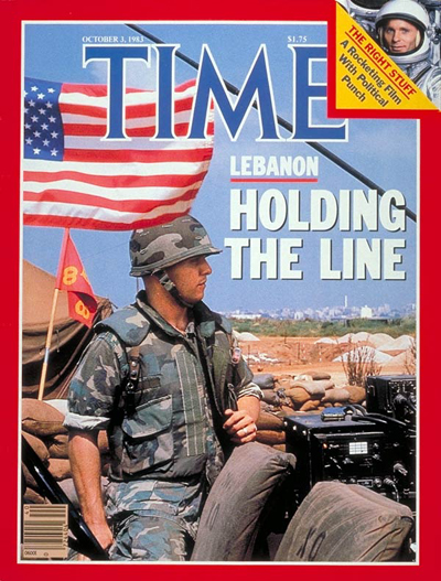 TIME Magazine Cover: Marines in Lebanon -- Oct. 3, 1983